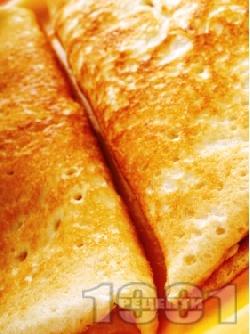 Вкусни катми с прясно мляко и мая и плънка от сирене, кашкавал и джоджен - снимка на рецептата